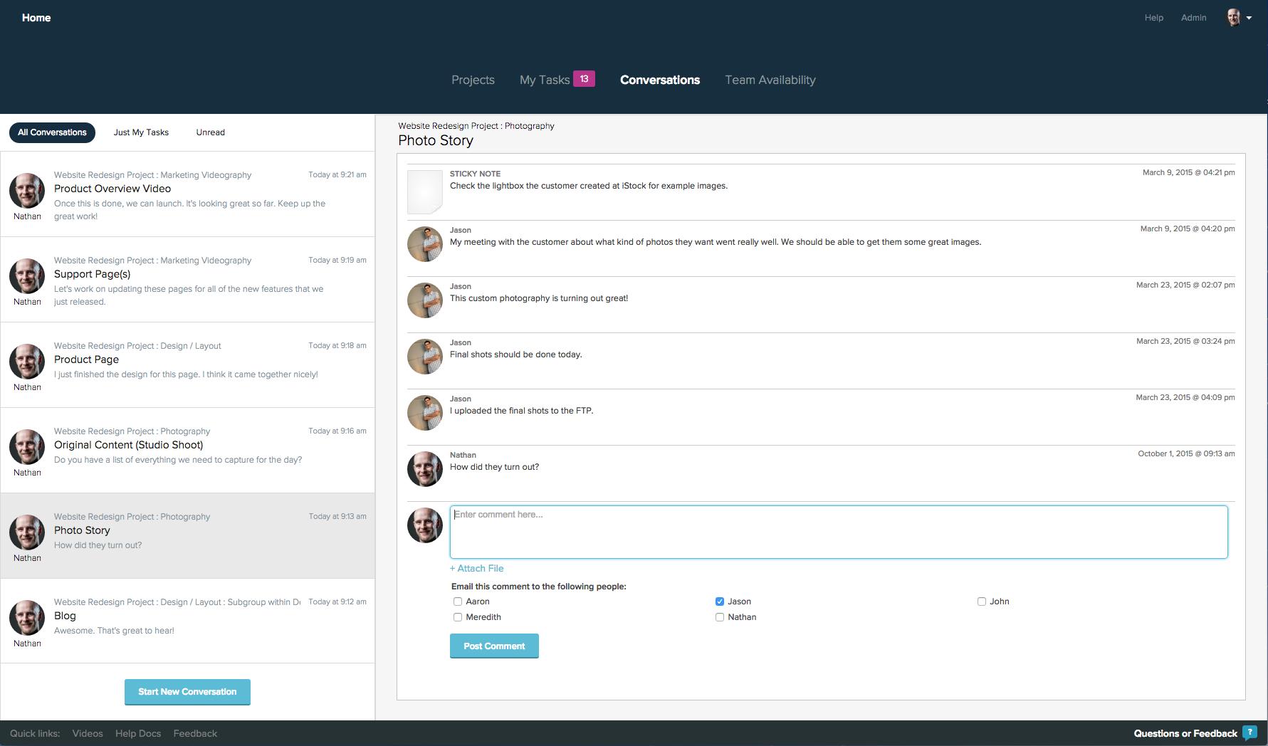 Project Management Conversations