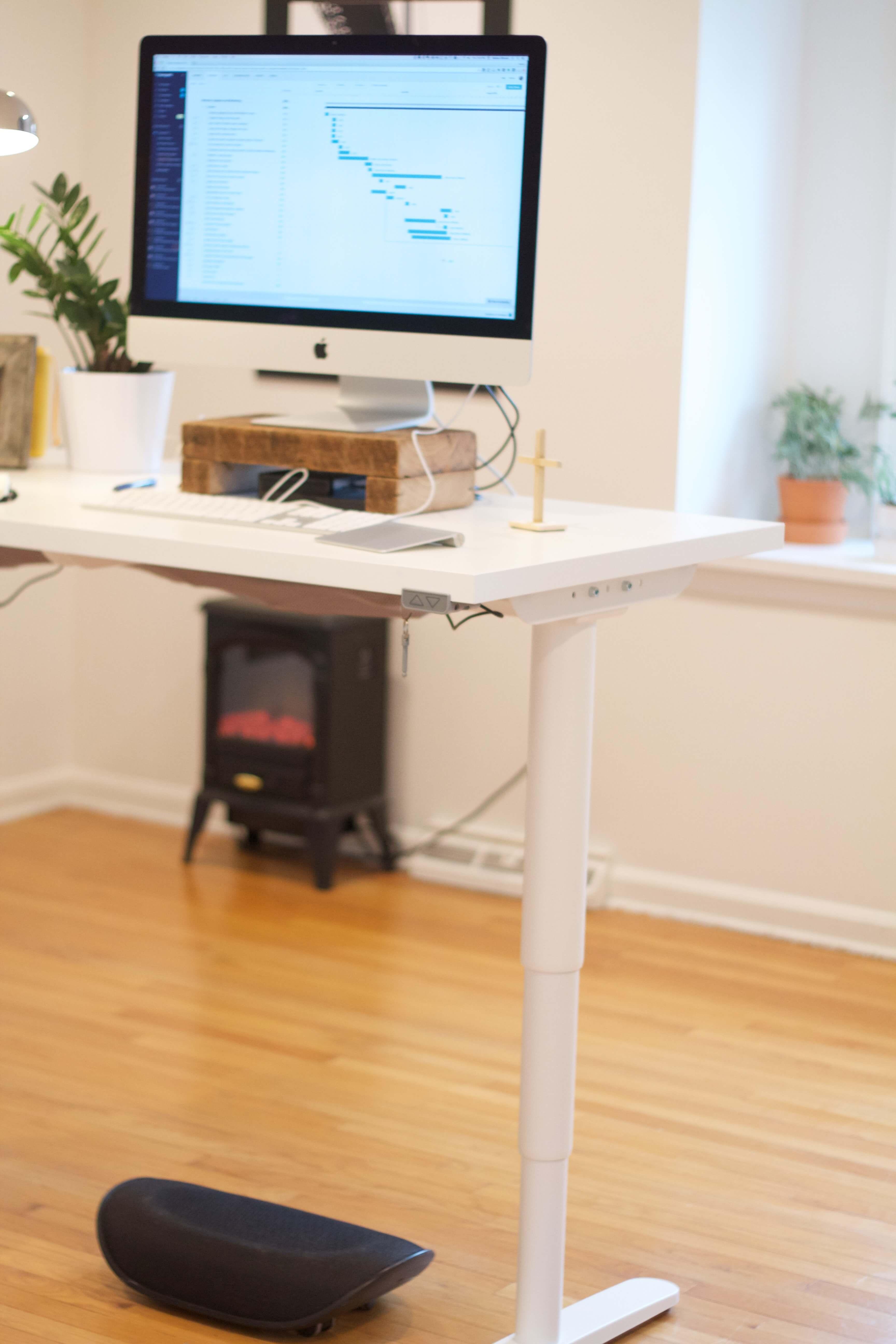 Ikea Motorized Standing Desk in Home Office